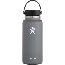 Hydro Flask Wide Mouth Bidón con Tapa Flex 946ml, gris